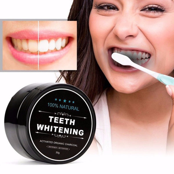 Natural Teeth Whitening Whitener Charcoal teeth whitening Scaling Powder Teeth Clean Strengthen+ Bamboo Toothbrush new