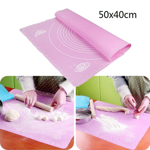 Ex-large Silicone Baking Mat for Oven Scale Rolling Dough Mat Fondant Pastry Mat Non-stick Bakeware Cooking Tools Four Sizes