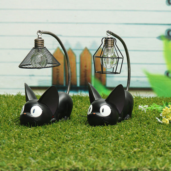 Zakka Mini Cute Black Cat Night Light Desktop Resin Figurines Miniatures Home Bedroom Decoration Crafts Kids Gift HYZ9021