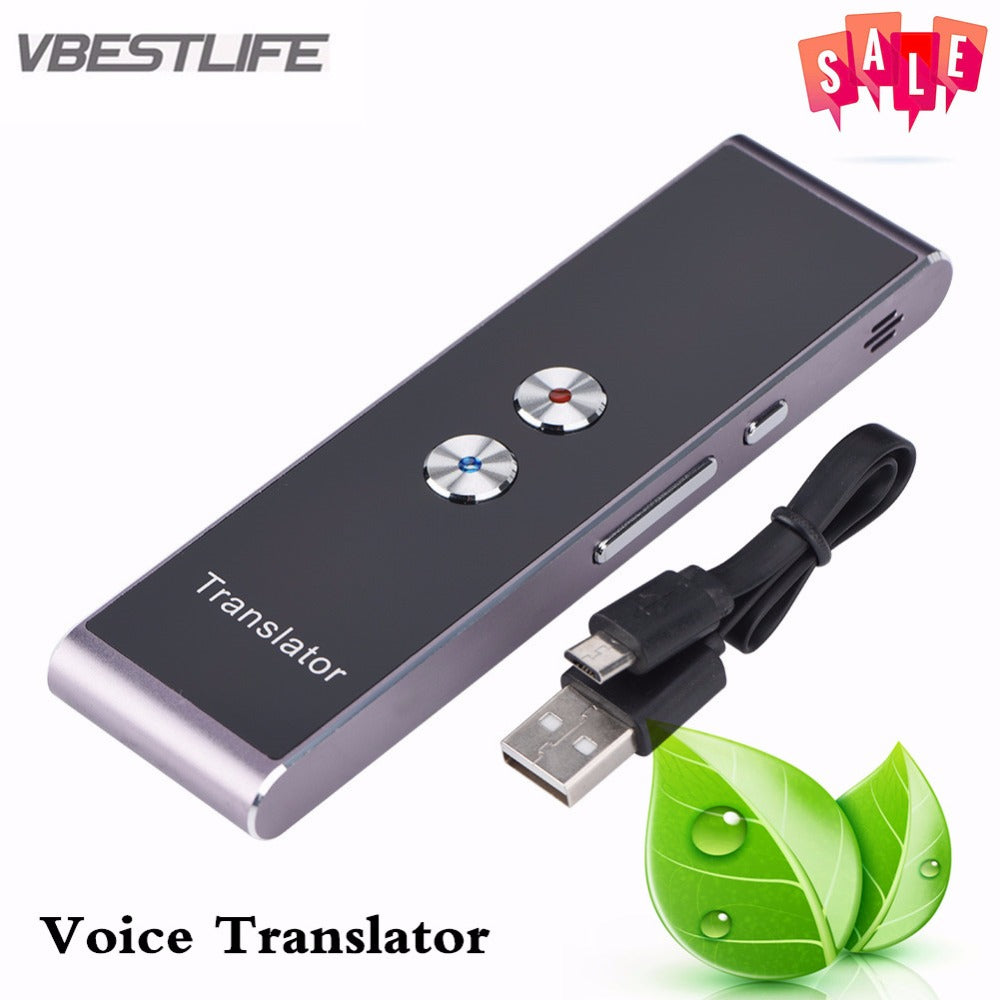 VBESTLIFE Portable Smart Voice Translator Two-Way Real Time Multi-Language Translation For Learning Travelling Business Meeting