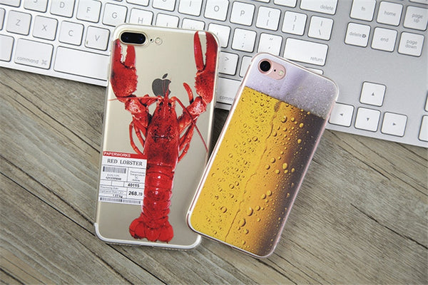 Funny Soft TPU Case for iPhone 7 8 Plus X