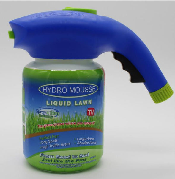 Hydro Mousse Liquid Lawn Grass Growth Garden Sprayer Bottle Seed Sprinkler Liquid Lawn System Grass Plastic Watering Quick Easy