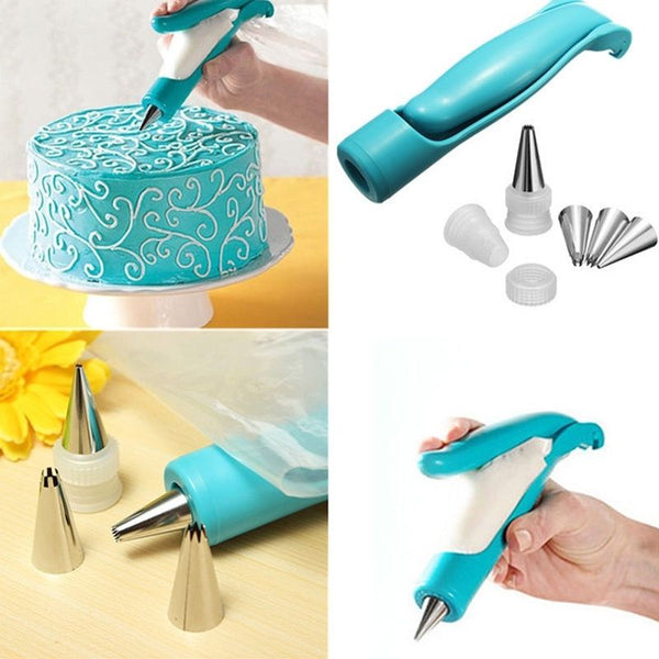 Nozzles Set Tool Dessert Decorators Cake Decorating Icing Piping Cream Syringe Tips Muffin Cake Pastry Pen Bag