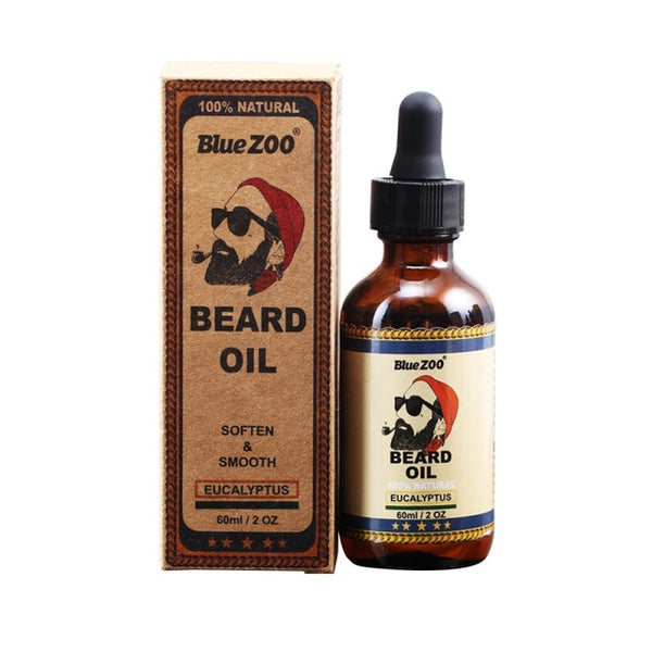 100% Natural Organic Face Beard Oil Soften Hair Growth Nourishing For Men Beard