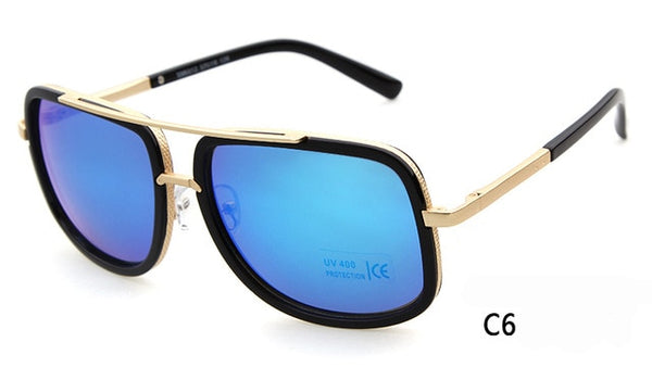 WHO CUTIE 2018 Square Sunglasses Men Brand Design Luxury High Quality Vintage Gold Frame Male Sun Glasses Driving Trendy OM42
