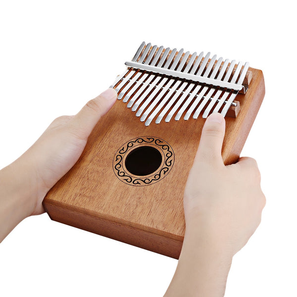 W - 17T 17 Keys Kalimba Thumb Piano High-Quality Wood Mahogany Body Musical Instrument With Learning Book Tune Hammer