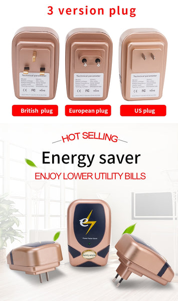 30KW intelligent Electricity Saving Box Electric  Saver Device bill killer up to 30%  EU/UK/US Plug