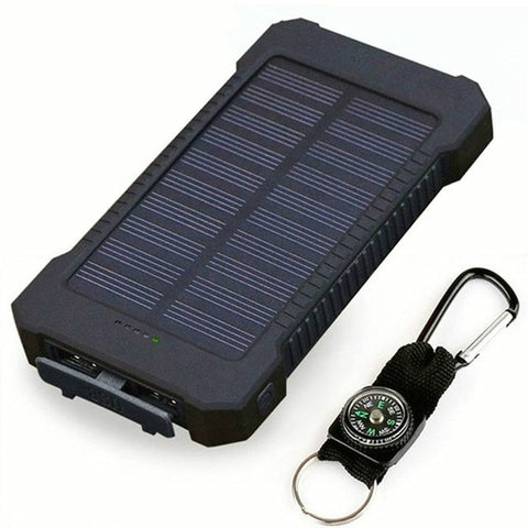 Hot Portable Waterproof Solar Power Bank 30000mah Dual-USB Solar Battery Charger powerbank for all Phone Universal Charger