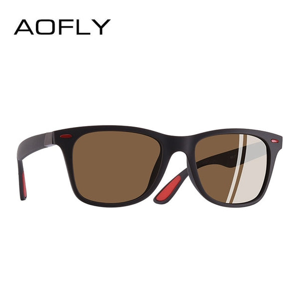 AOFLY NEW DESIGN Ultralight TR90 Polarized Sunglasses Men Women Driving Square Style Sun Glasses Male Goggle UV400 Gafas De Sol