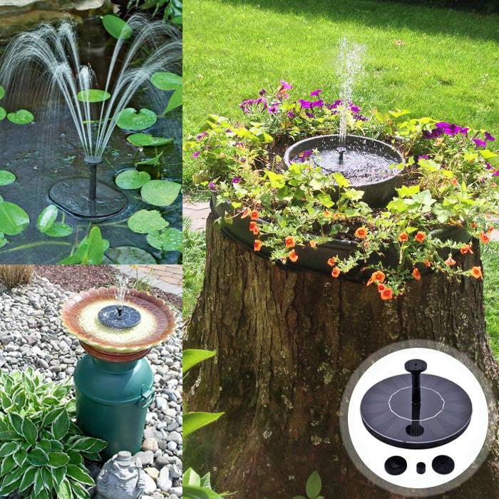 solar powered fountain kit add garden floating for bird bath or pond water large ponds pacific hydrostar pump reviews
