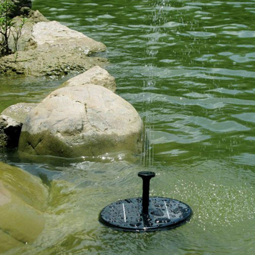 Solar powered fountain kit an add on to your garden for Best pond fountains
