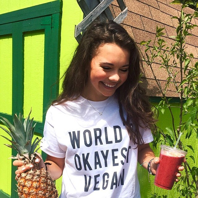 worlds okayest vegan t shirt