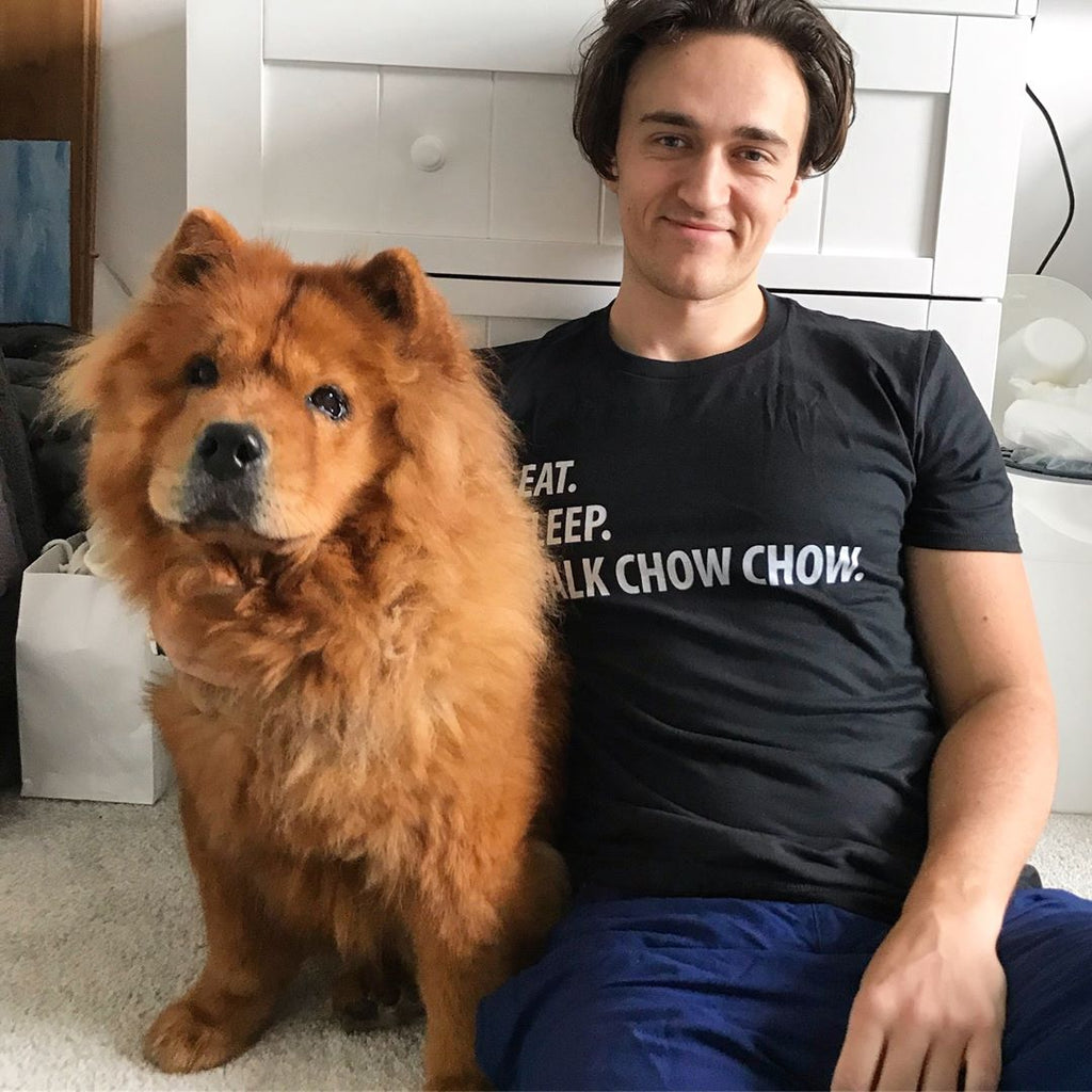 eat sleep walk chow chow t shirt