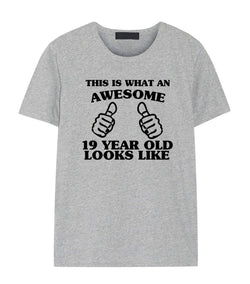 19th Birthday Shirt, 19th Birthday T-Shirt for Son & Daughter