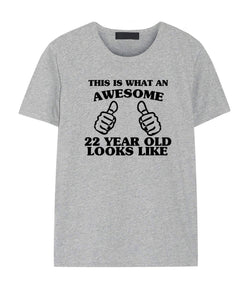 22nd Birthday Shirt, 22nd Birthday T-Shirt for Him & Her