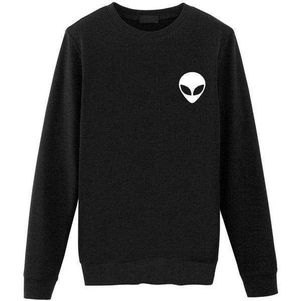 Alien Sweater Skull Pocket Print-WaryaTshirts