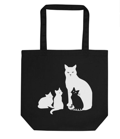 Cat and Kittens Tote Bag | Short / Long Handle Bags-WaryaTshirts