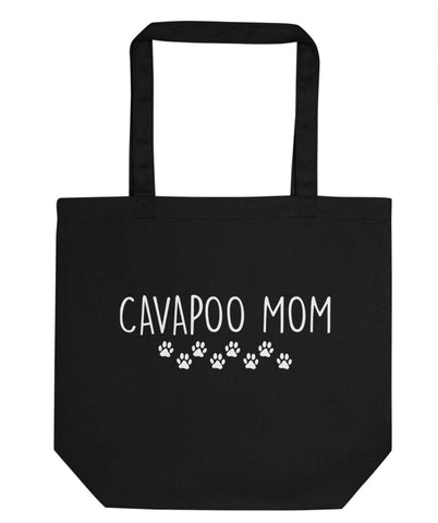 Cavapoo Mom Tote Bag | Short / Long Handle Bags-WaryaTshirts