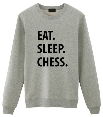 Chess Sweater, Chess Lover Gift, Eat Sleep Chess Sweatshirt Mens & Womens Gift-WaryaTshirts