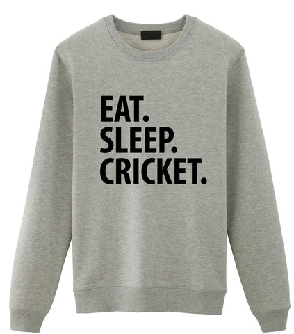 Cricket Sweater, Eat Sleep Cricket Sweatshirt Gift for Men & Women-WaryaTshirts