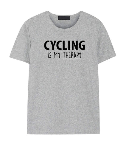 Cycling Is My Therapy T-Shirt Mens Womens-WaryaTshirts