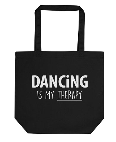 Dancing is My Therapy Tote Bag | Short / Long Handle Bags-WaryaTshirts