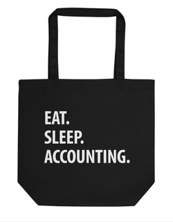 Eat Sleep Accounting Tote Bag | Short / Long Handle Bags-WaryaTshirts