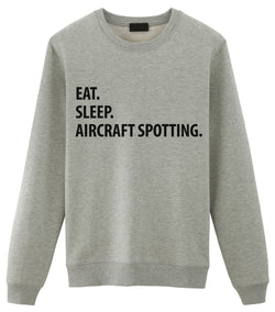 Eat Sleep Aircraft Spotting Sweater