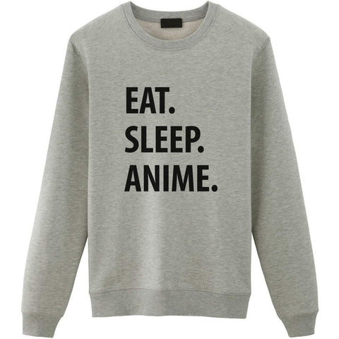 Eat Sleep Anime Sweater-WaryaTshirts