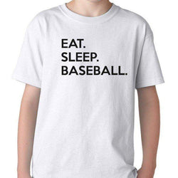 Eat Sleep Baseball T-Shirt Gift for Boys Girls Teens
