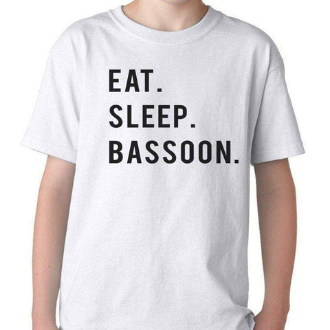 Eat Sleep Bassoon T-Shirt Gift for Boys Girls Teens-WaryaTshirts