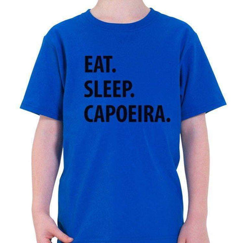 Eat Sleep Capoeira T-Shirt Kids-WaryaTshirts