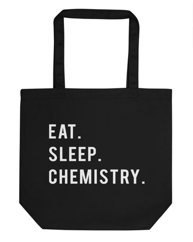Eat Sleep Chemistry Tote Bag | Short / Long Handle Bags-WaryaTshirts