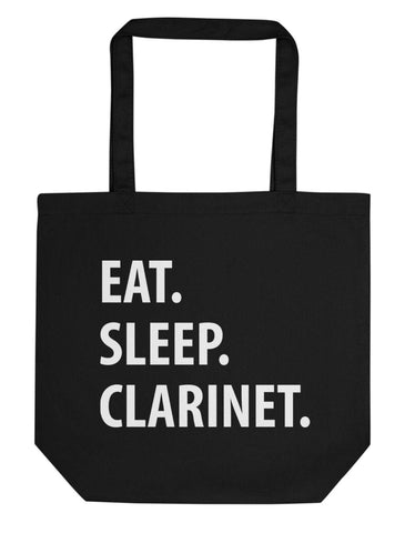 Eat Sleep Clarinet Tote Bag | Short / Long Handle Bags-WaryaTshirts