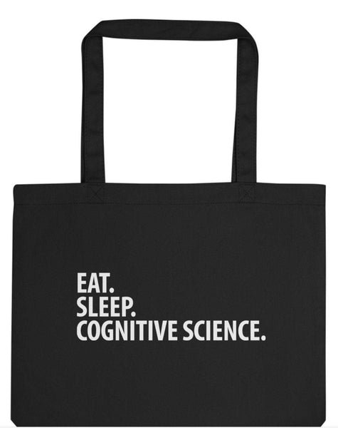 Eat Sleep Cognitive Science Tote Bag | Long Handle Bags - 3059-WaryaTshirts