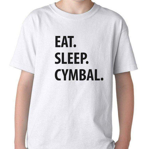 Eat Sleep Cymbal T-Shirt for Boys Girls Teens-WaryaTshirts