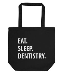 Eat Sleep Dentistry Tote Bag | Short / Long Handle Bags-WaryaTshirts