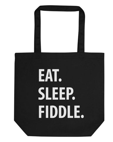 Eat Sleep Fiddle Tote Bag | Short / Long Handle Bags-WaryaTshirts