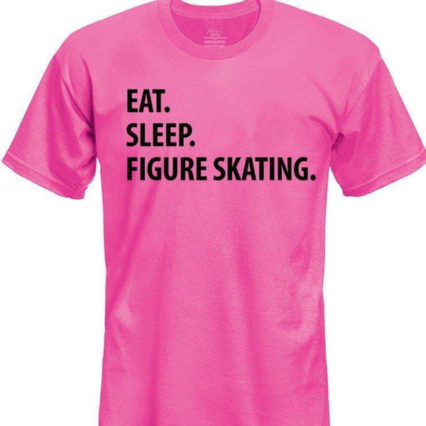 Eat Sleep Figure Skating T-Shirt Kids-WaryaTshirts