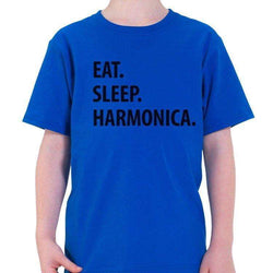 Eat Sleep Harmonica T-Shirt Kids