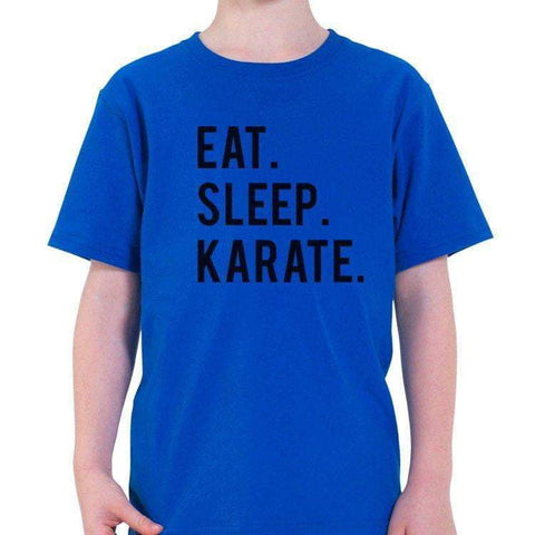 Eat Sleep Karate T-Shirt Kids