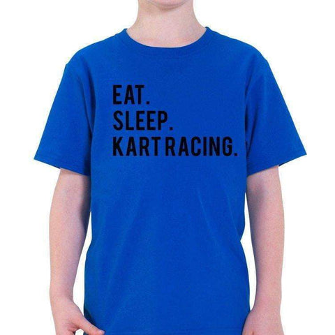 Eat Sleep Kart Racing T-Shirt Kids-WaryaTshirts