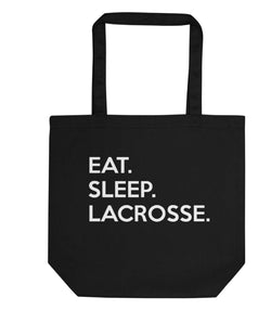 Eat Sleep Lacrosse Tote Bag | Short / Long Handle Bags-WaryaTshirts