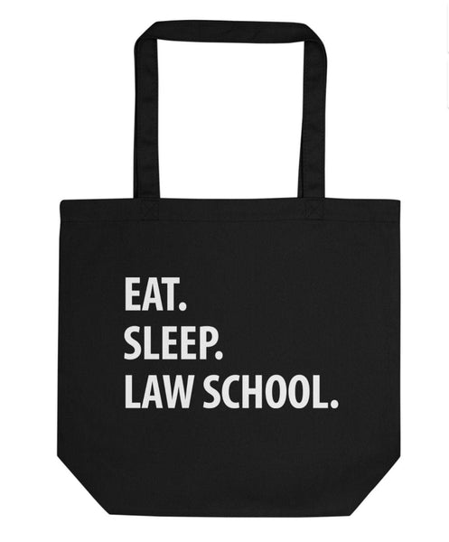 Eat Sleep Law School Tote Bag | Short / Long Handle Bags-WaryaTshirts