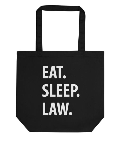 Eat Sleep Law Tote Bag | Short / Long Handle Bags-WaryaTshirts