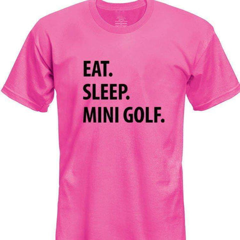 Eat Sleep Mini Golf T-Shirt Kids-WaryaTshirts