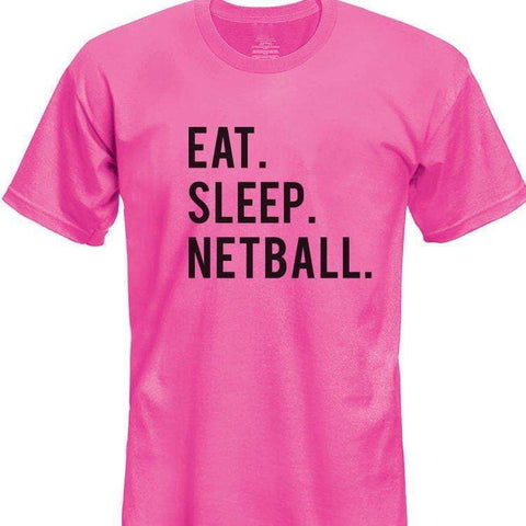Eat Sleep Netball T-Shirt Kids-WaryaTshirts