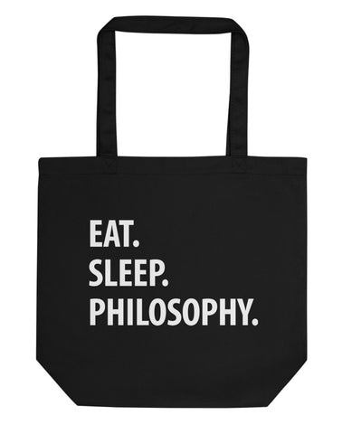 Eat Sleep Philosophy Tote Bag | Short / Long Handle Bags-WaryaTshirts