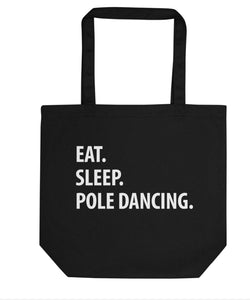 Eat Sleep Pole Dancing Tote Bag | Short / Long Handle Bags-WaryaTshirts