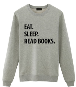 Eat Sleep Read Books Sweater